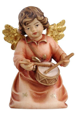 Bell Angel - Kneeling with Drum - Original Glockenengel by PEMA