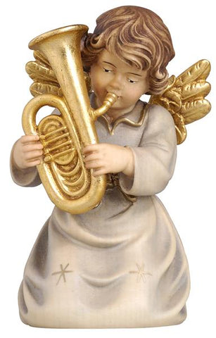 Bell Angel - Kneeling with Tuba - Original Glockenengel by PEMA