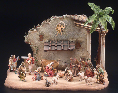 Nazarene Nativity Set of 16 Pieces & Temple