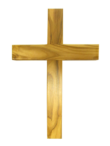 "4.75"" - 10"" Olive Wood Cross - Made in Jerusalem"