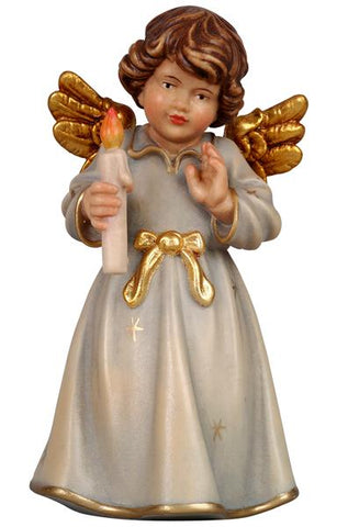Bell Angel - Standing with Candle - Original Glockenengel by PEMA