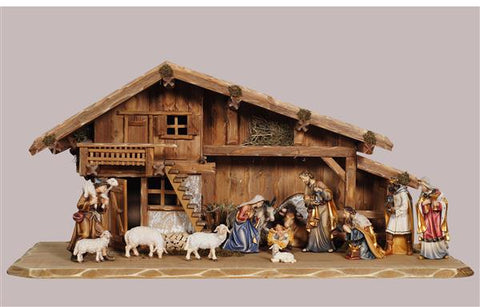14 Piece Heimat Stable - Kostner Nativity Set