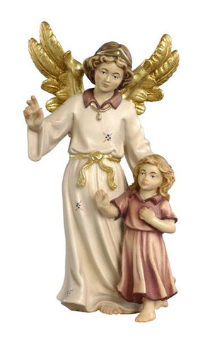 Guardian Angel with Girl Woodcarving