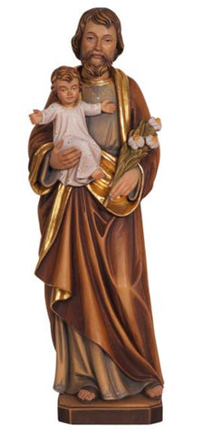 St. Joseph with Child Woodcarving