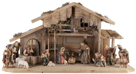 Salcher Stable Toblach with Original Bethlehem Figures