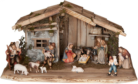 Salcher Rasciesa Stable with Bethlehem Nativity