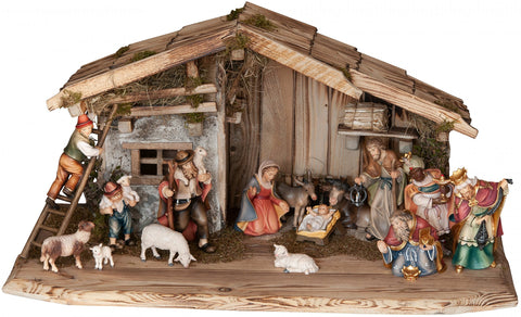 Salcher Stable Rasciesa with Bethlehem Nativity