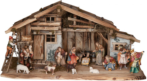Salcher Stable Alpe di Siusi with Bethlehem Nativity