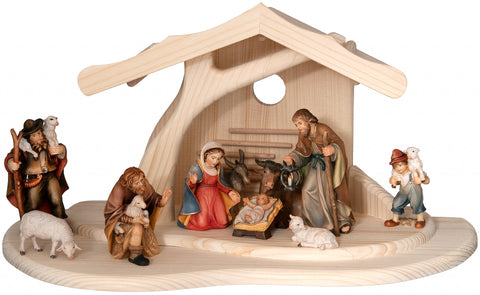 Salcher Modern Stable with Bethlehem Nativity