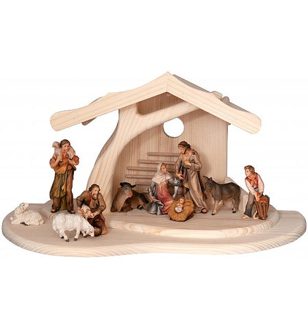 Salcher Modern Stable with Morgenstern Nativity