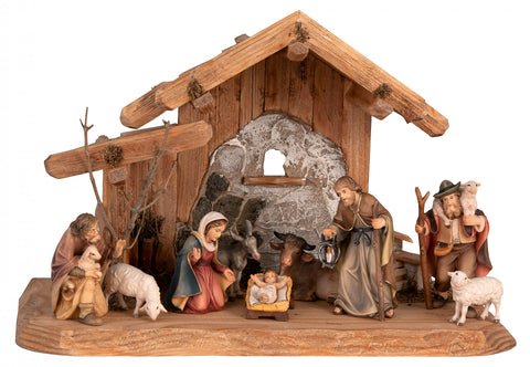 Salcher Stable with Original Bethlehem Crib