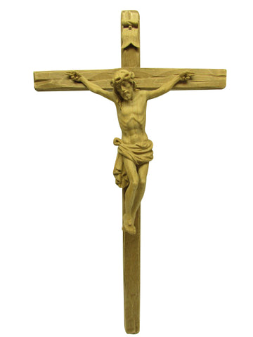 "20"" Oak Crucifix by Salcher Werner"