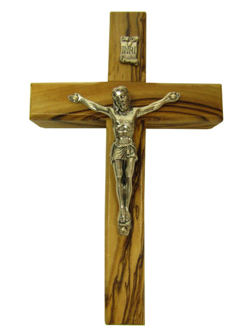 "4.75"" - 10"" Olive Wood Crucifixes - Made in Jerusalem and Bethlehem"