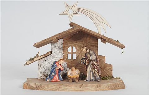 Rainell 4 Piece Nativity Set - Stable with Comet