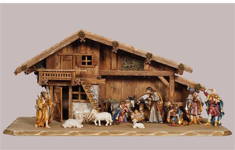 Rainell 14 Piece Nativity Set - Stable