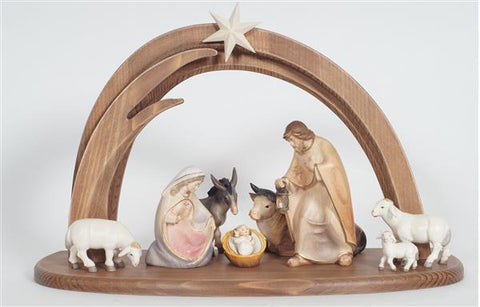 PEMA Nativity Set 10 pieces - Stable Leonardo - Watercolor