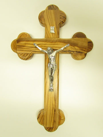 "5.5"" - 8"" Fourteen Station Crucifix - Olive Wood"