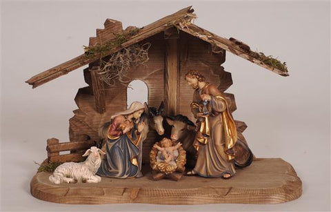 8 Piece Kostner Nativity Set with Tyrol Stable