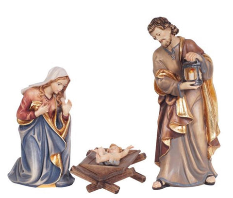 Kostner Holy Family with Infant Jesus in Simple Manger