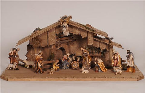 18 Piece Kostner Nativity Set with Stable - Holy Night