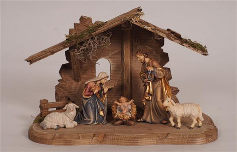 7 Piece Kostner Nativity Set with Tyrol Stable for Holy Family