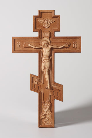 Russian Birch Wall Crucifix
