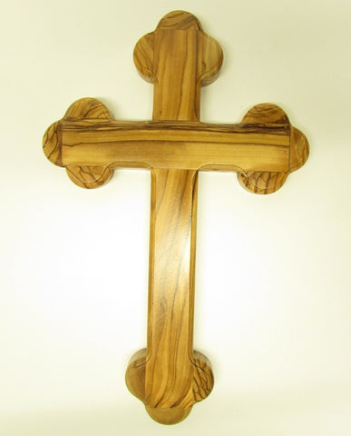 "5.5"" - 8"" Fourteen Station Olive Wood Cross -Made in Jerusalem"