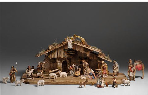 29 Piece Kostner Nativity Set by PEMA Woodcarvings - Hand Painted