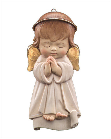 "Guardian Angel - 5.5"" Hanging Woodcarving - LEPI Woodcarvings"