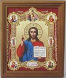 Christ Pantocrator Icon Framed with Images of the Virgin and Child