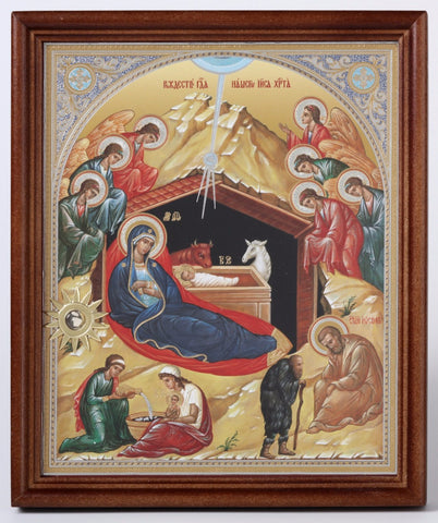 Infant Jesus in the Manger - Nativity Icon