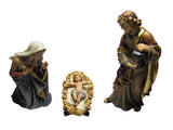 Kostner Holy Family with Manger - Four Piece Woodcarving Set
