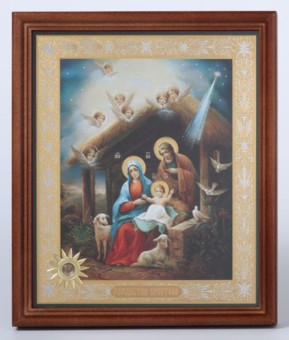Holy Family in Stable - Nativity Icon
