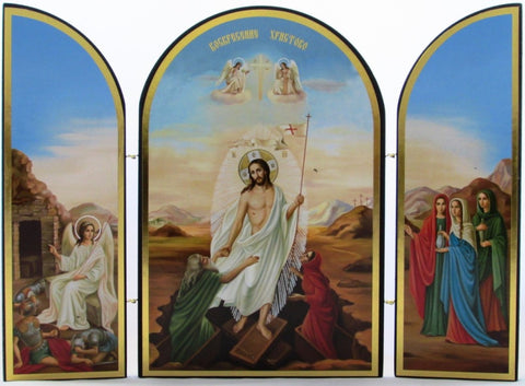 Jesus Raising the Dead Resurrection Triptych