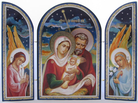 The Holy Child with the Blessed Virgin Mary and Joseph - Triptych Icon