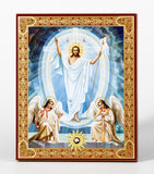 Resurrection Icon - Christ Stands Victorious! All the Angels Worship Him!