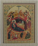 Nativity Icon - Ornate Raised Design - Gift Packaging