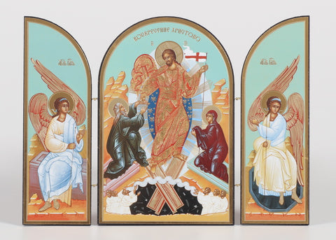 Christ the Victor - Russian Triptych Icon