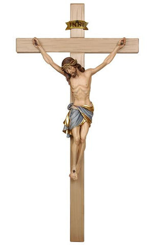 PEMA Siena Hand Painted Crucifix with Gold Accents