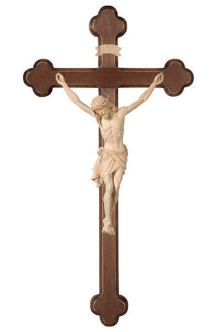 "11"" - 63"" Hand Carved Baroque Style Crucifix, Siena Corpus"