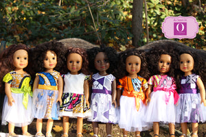 black dolls in different shades of brown
