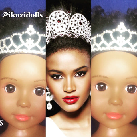 Beautiful African American doll with crown