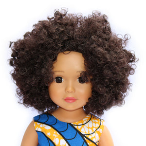 light skin black doll with natural hair