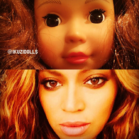 Beyonce and Ikuzi Black Doll. #blackgirl #beyonce