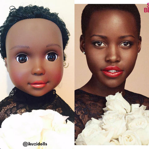 Lupita Nyongo and Dark skin Ikuzi African American Doll #blackdolls