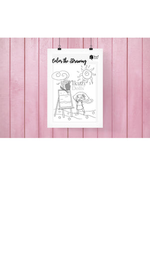 Downloadable Artist Coloring Page