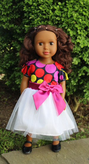 Medium Brown Skin Tone Doll With Wavy Brown Hair