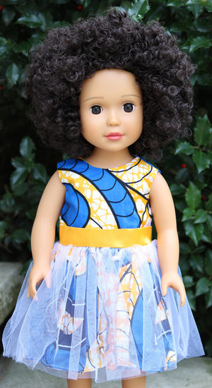 "18"" african american doll for black girls or girls of color"