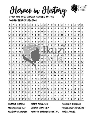 Downloadable History Heroes Word Search Activity