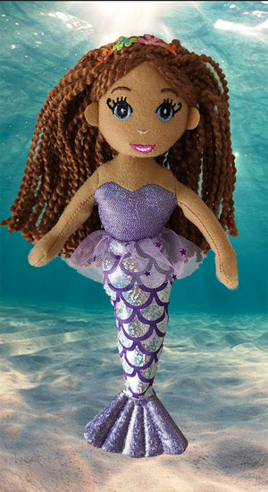 Set of 3 Black Mermaid Ikuzi Dolls